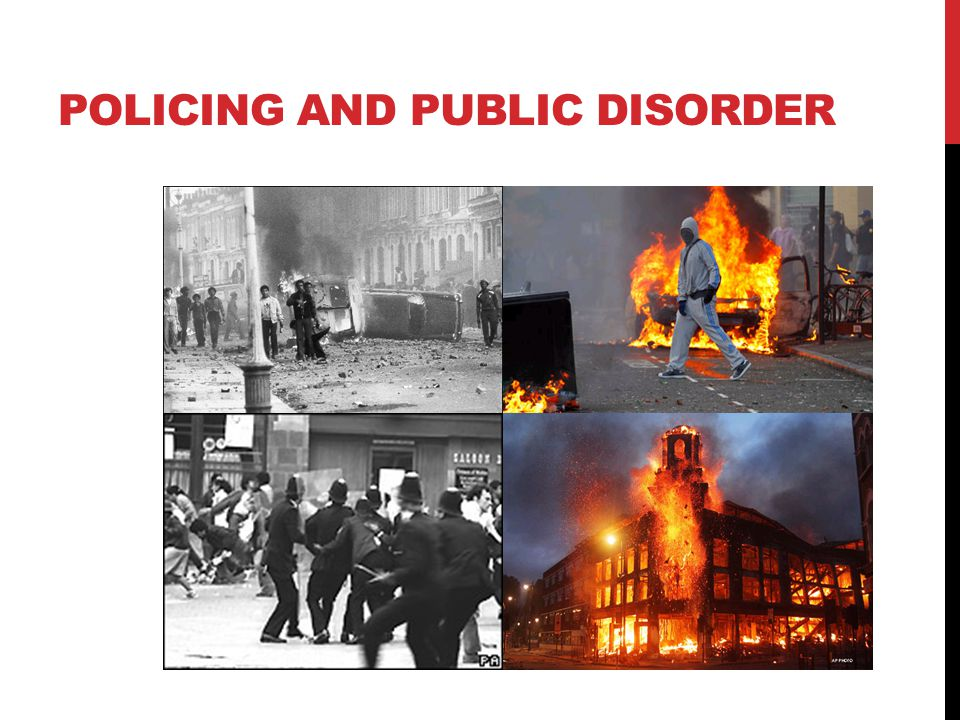 Policing and public disorder
