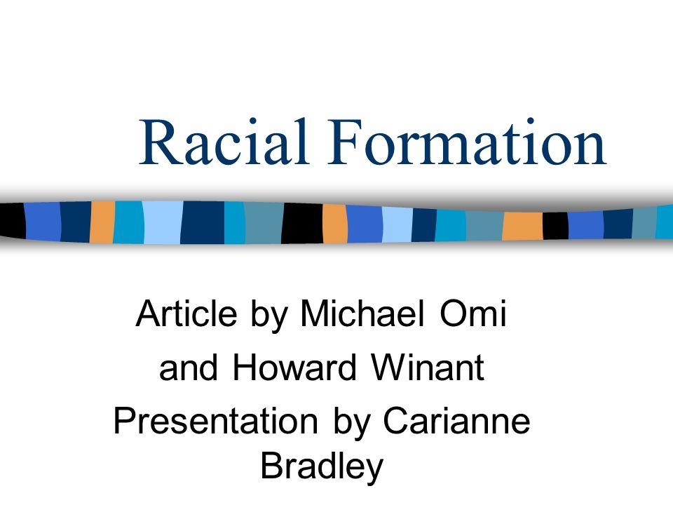 Presentation by Carianne Bradley