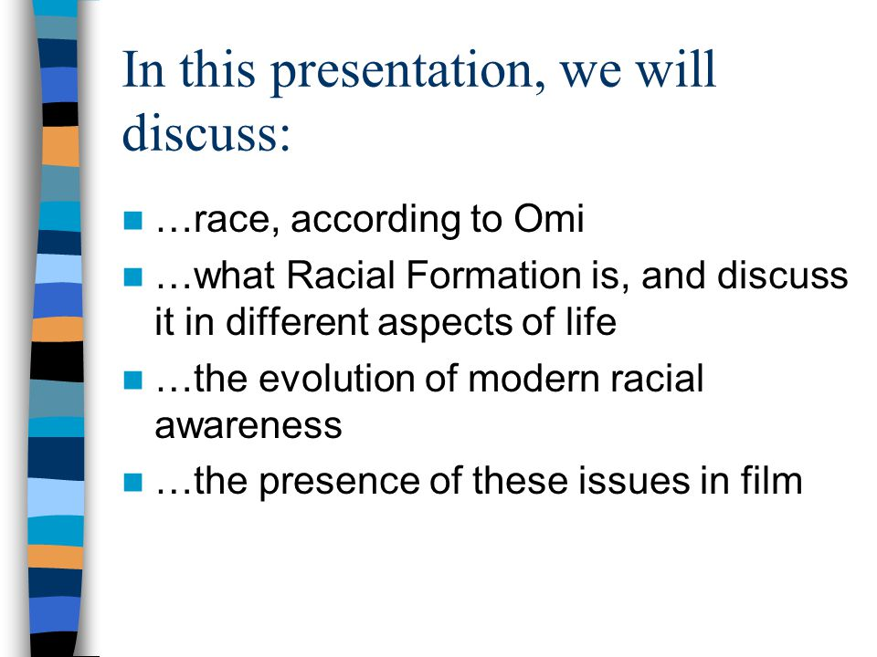 In this presentation, we will discuss: