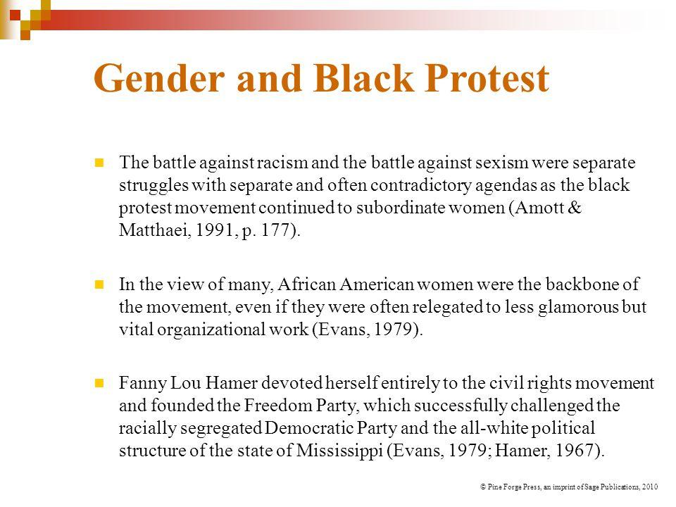 Gender and Black Protest