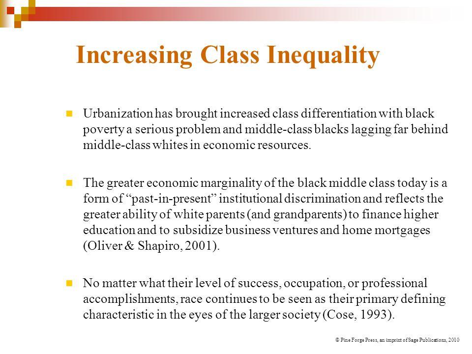 Increasing Class Inequality