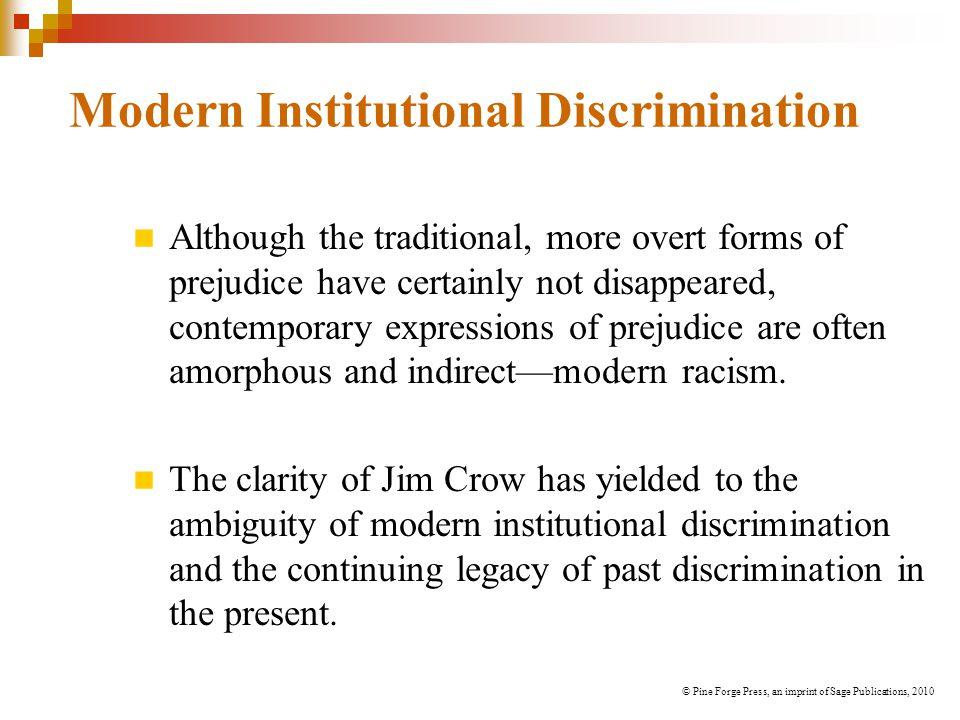 Modern Institutional Discrimination