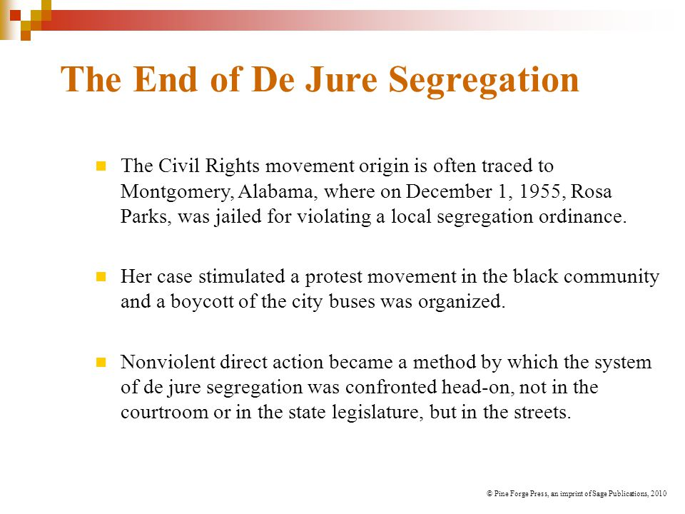 The End of De Jure Segregation