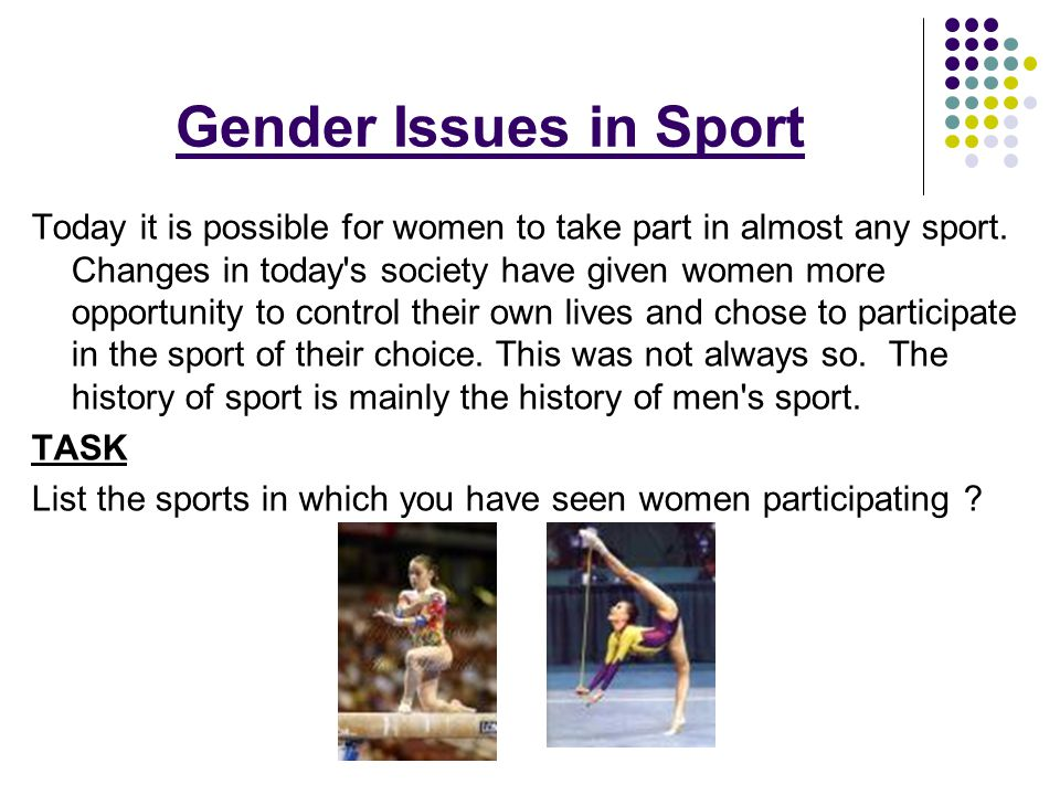 gender issues sport essay