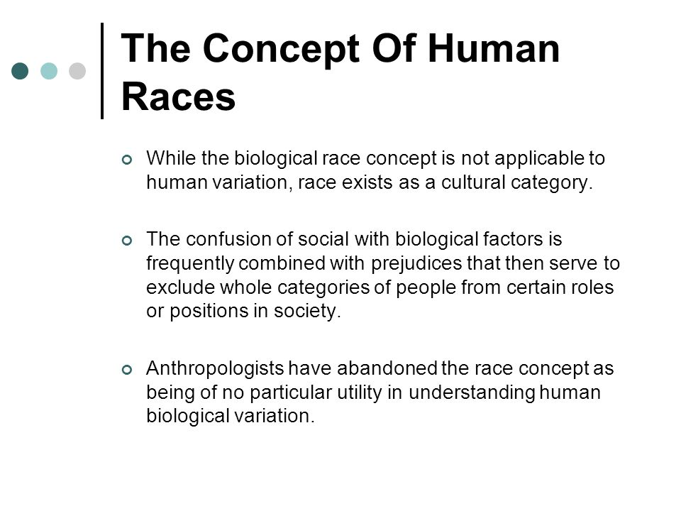 The Concept Of Human Races