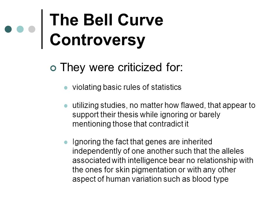 The Bell Curve Controversy