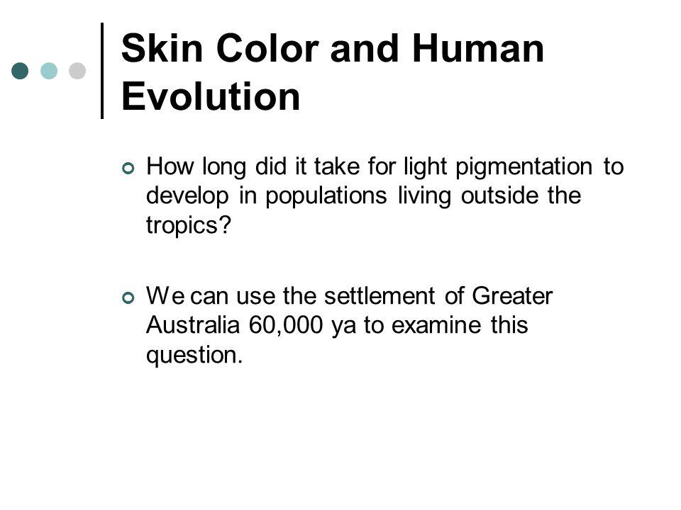 Skin Color and Human Evolution