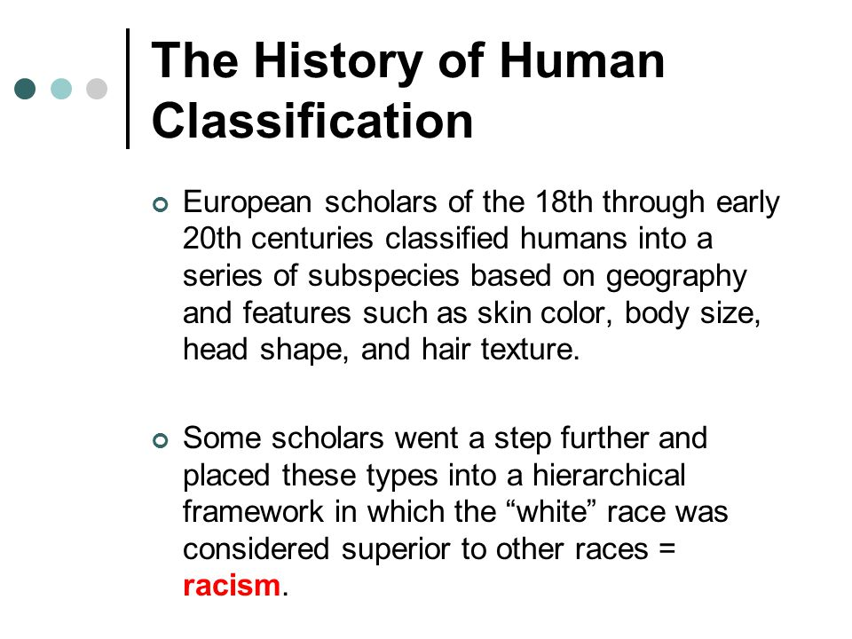 The History of Human Classification