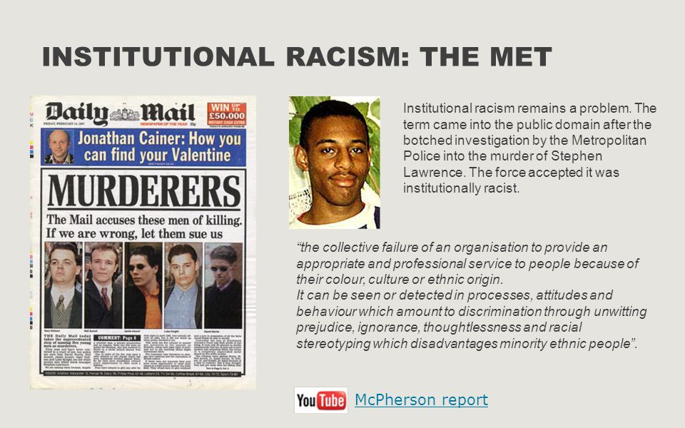 Institutional Racism: The Met