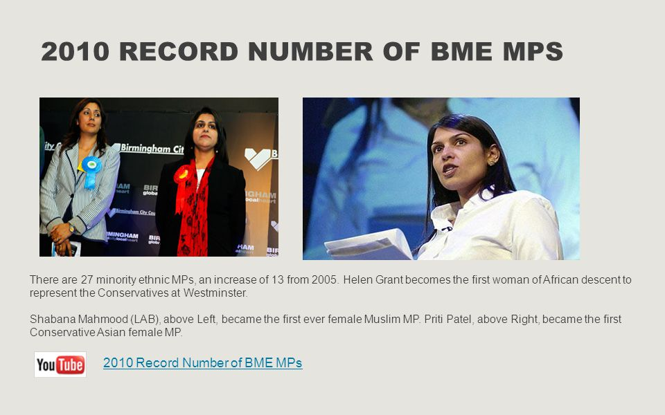 2010 Record Number of BME MPs