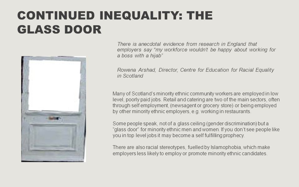 Continued Inequality: The Glass Door