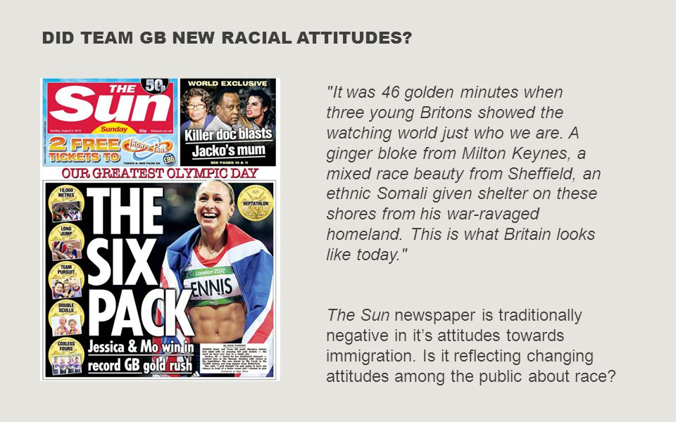 DID TEAM GB NEW RACIAL ATTITUDES