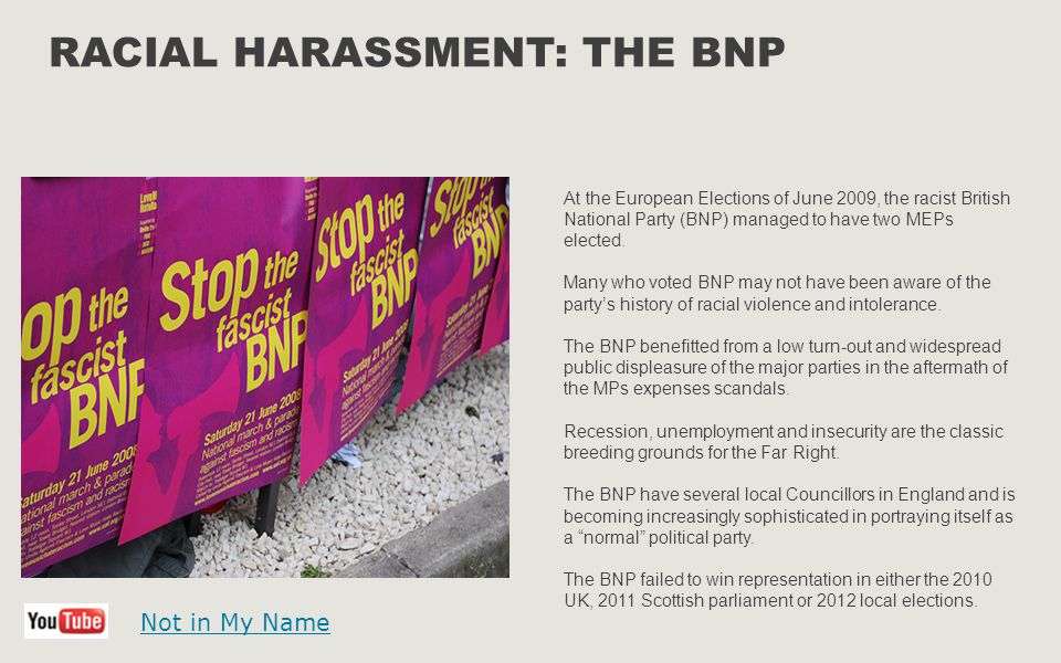 Racial Harassment: The BNP