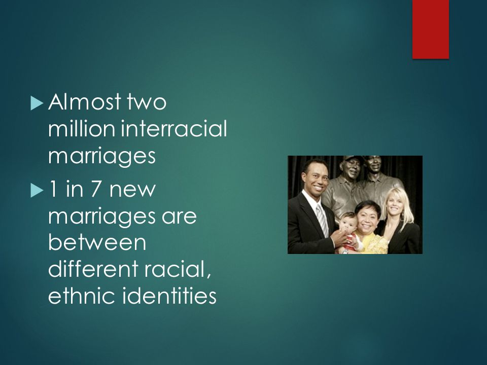 Almost two million interracial marriages