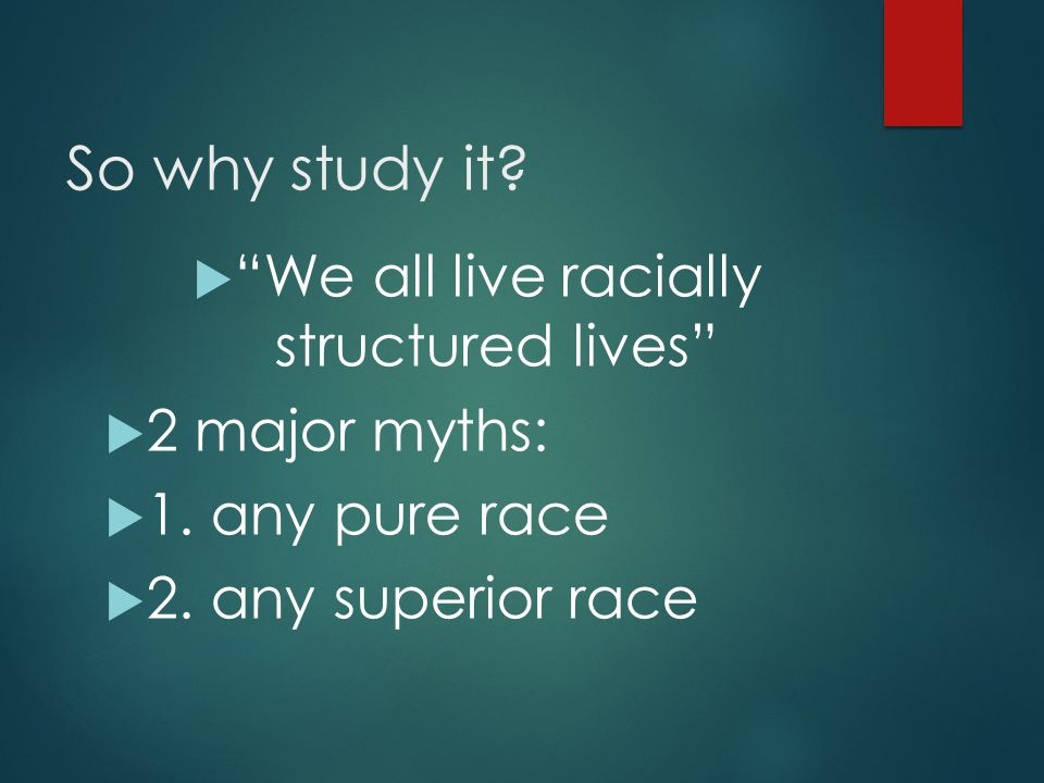 We all live racially structured lives