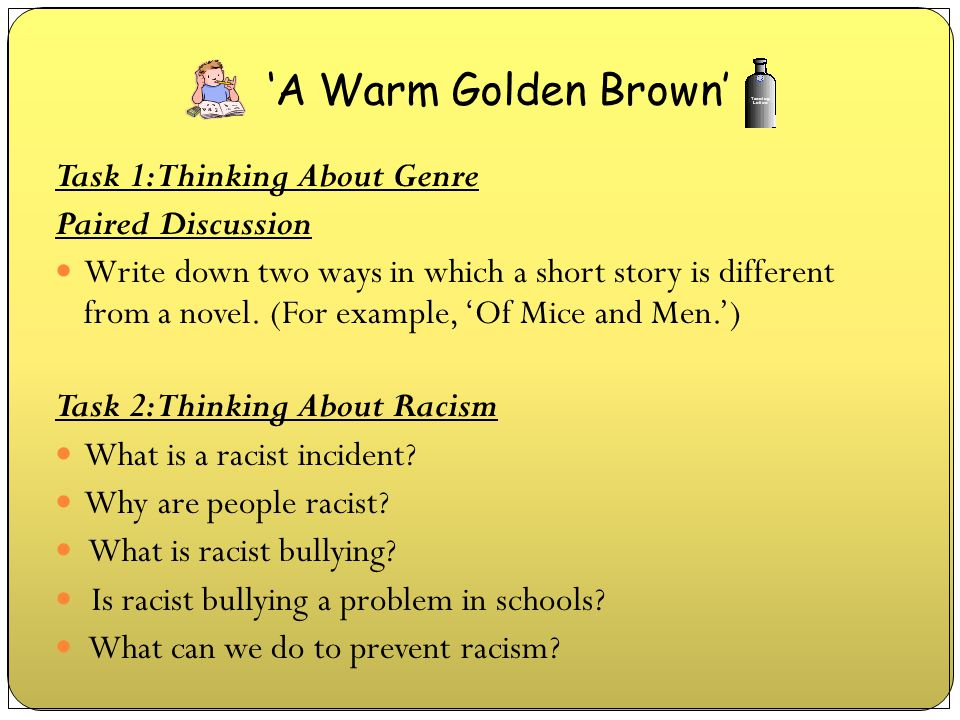 'A Warm Golden Brown' Task 1: Thinking About Genre Paired Discussion