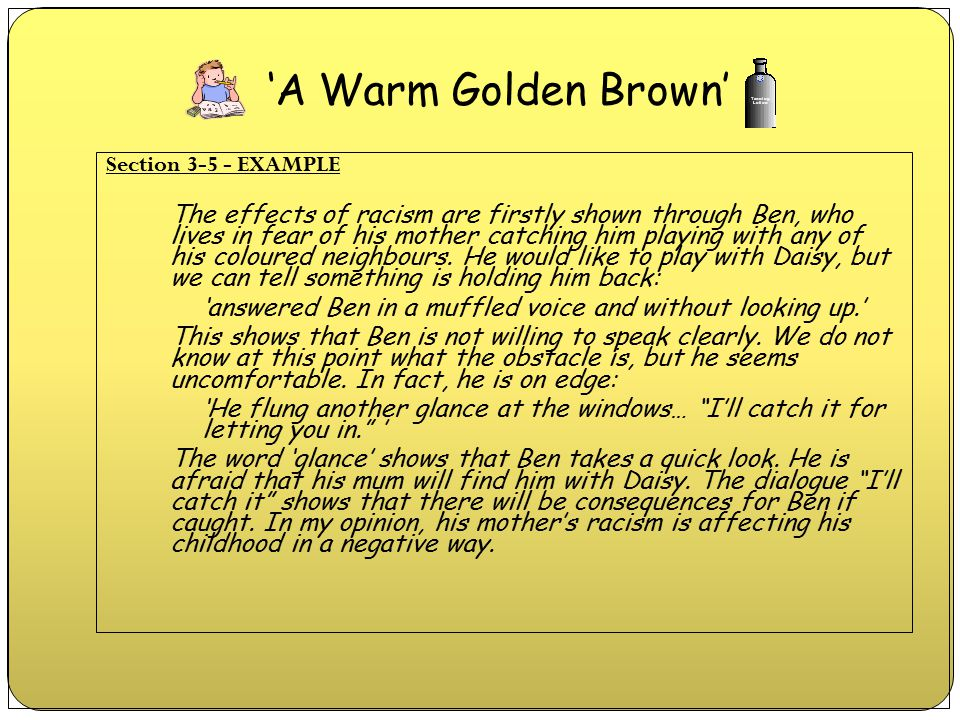 'A Warm Golden Brown' Section 3-5 - EXAMPLE.