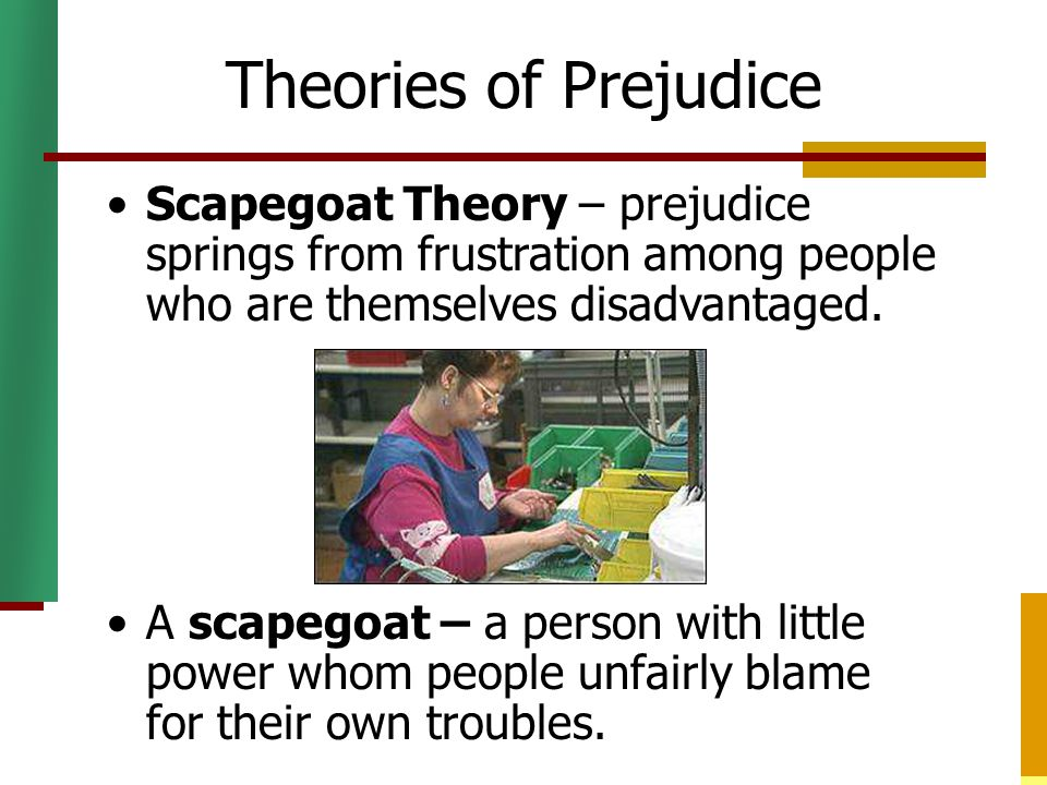 "concept prejudice This is ""stereotypes, prejudice, and discrimination"" the basic assumption is that if two concepts are associated or linked."