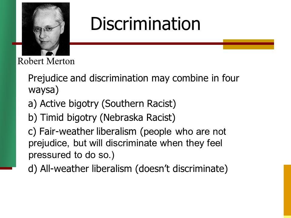Discrimination Robert Merton
