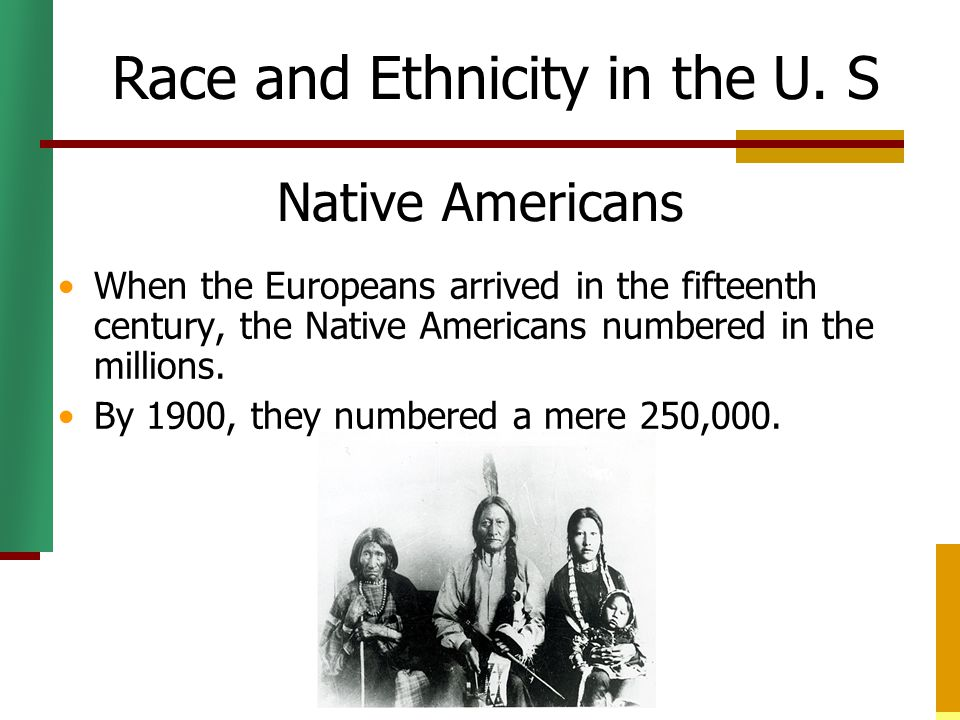 Race and Ethnicity in the U. S