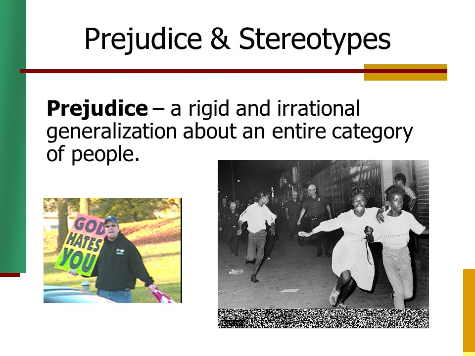 chapter 5 stereotypes prejudices racism Chapter the study of stereotyping, prejudice, and discrimination within social   chapter 5 how our dreams of death transcendence breed.