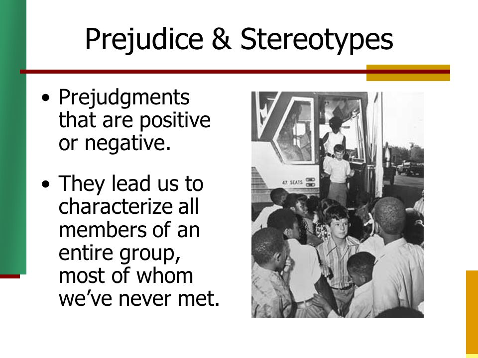 sterotype and prejudice worksheet 11 gender stereotypes activity 55-57 running head: prejudice and discrimination 4 module 1 insider/outsider activity author: donna stringer.