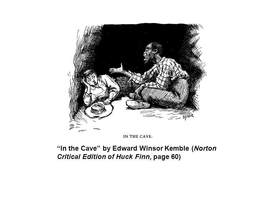 In the Cave by Edward Winsor Kemble (Norton Critical Edition of Huck Finn, page 60)
