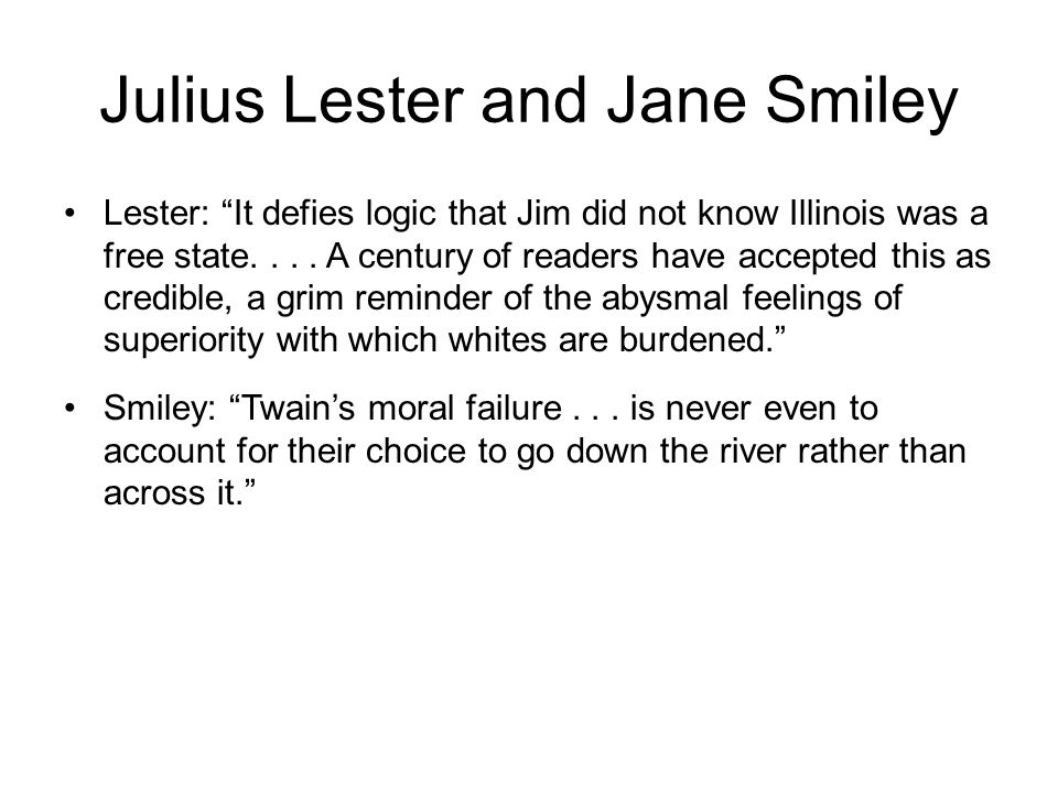 Julius Lester and Jane Smiley