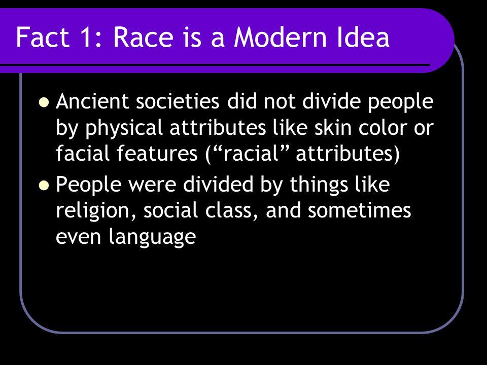 Fact 1: Race is a Modern Idea