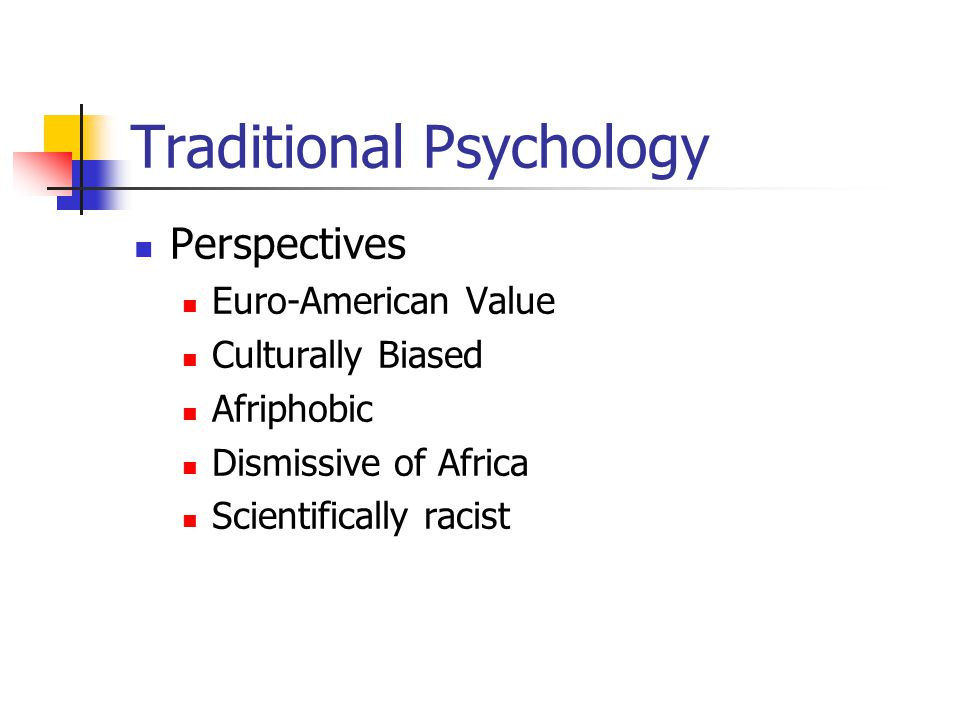 Traditional Psychology