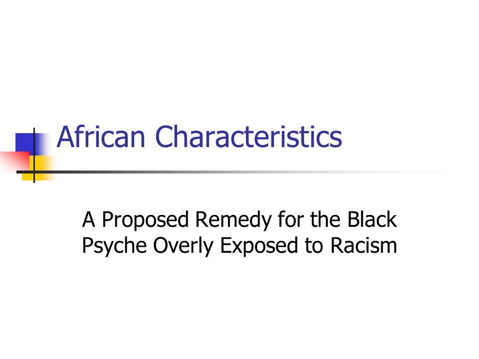 African Characteristics