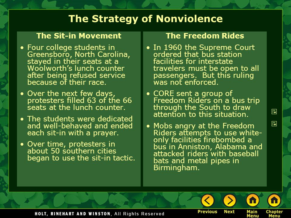 The Strategy of Nonviolence