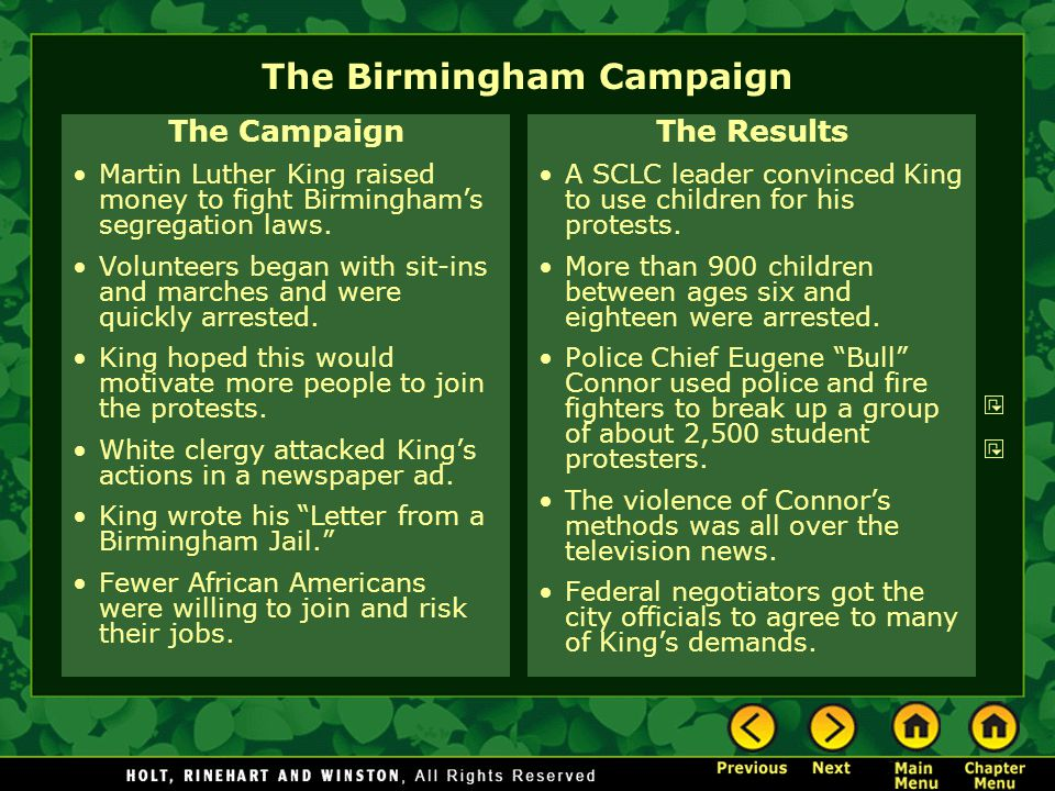 The Birmingham Campaign