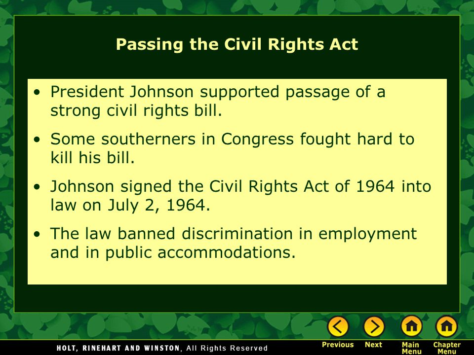 Passing the Civil Rights Act