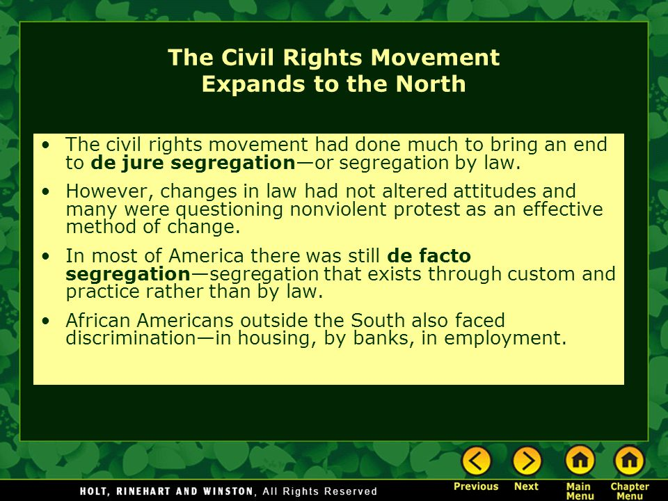 The Civil Rights Movement Expands to the North