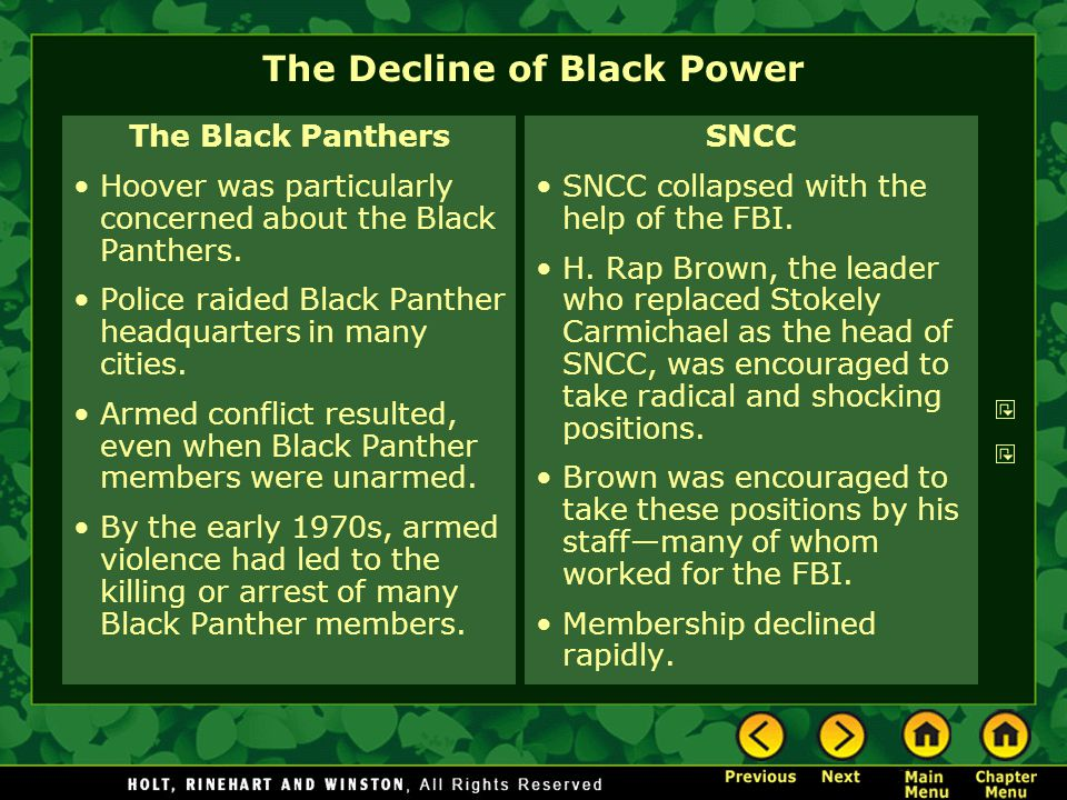 The Decline of Black Power