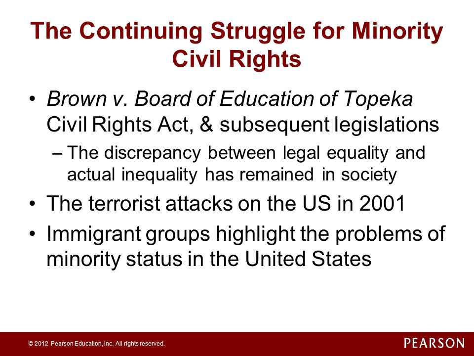 The Continuing Struggle for Minority Civil Rights