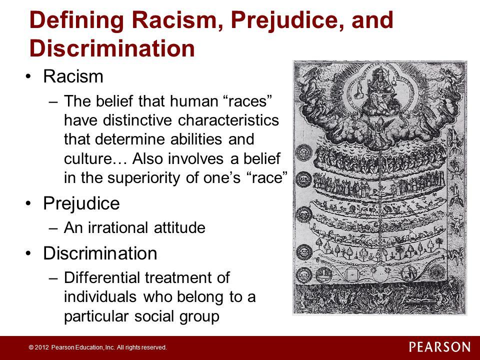 Defining Racism, Prejudice, and Discrimination