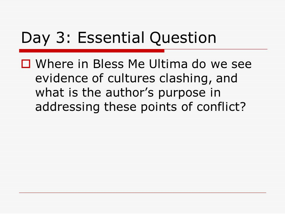 Day 3: Essential Question