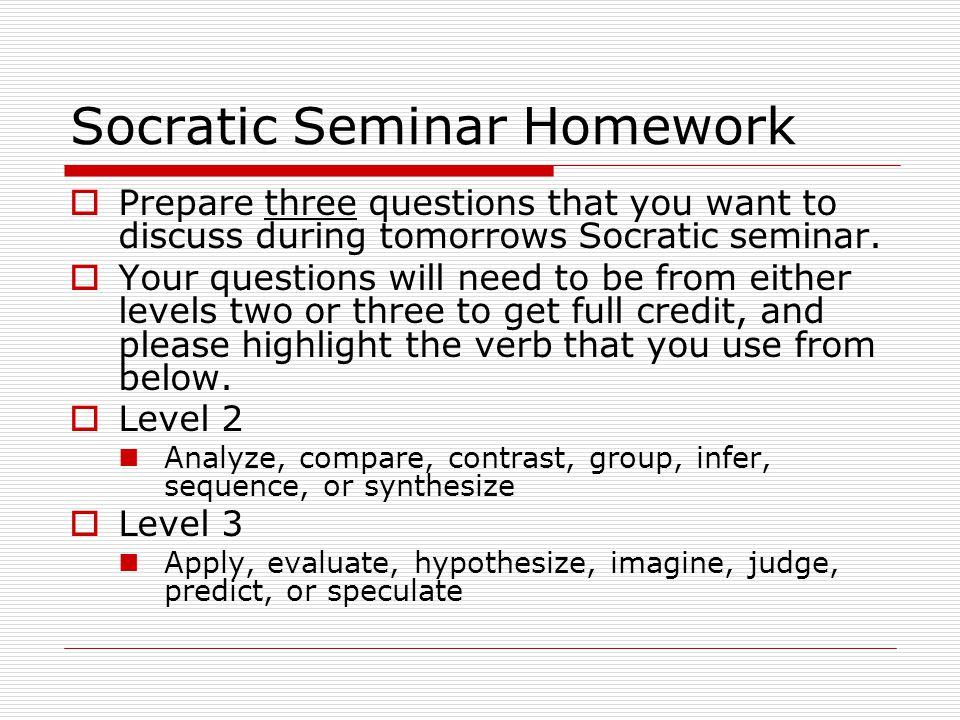 Socratic Seminar Homework
