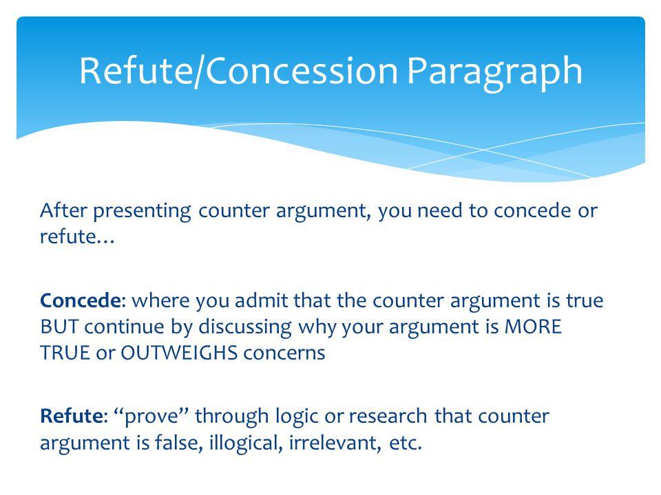 Concession Refutation Essays For Scholarships Define Refutation In An Essay