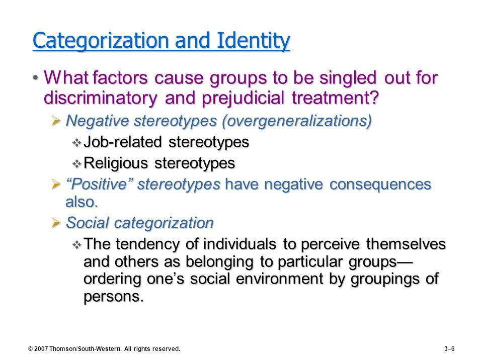 Categorization and Identity