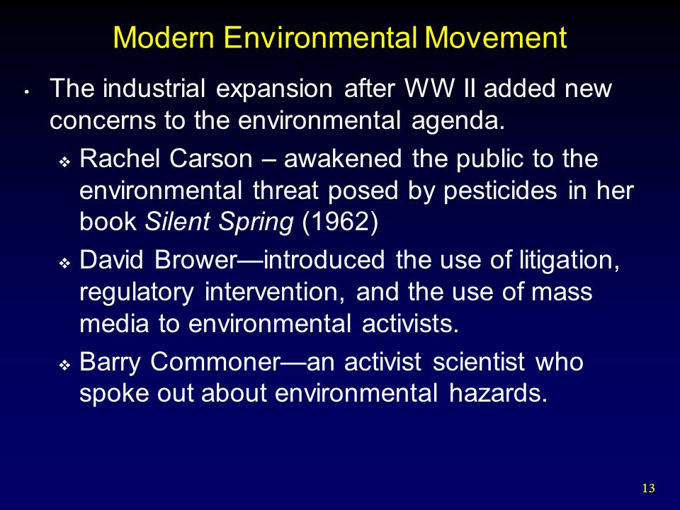 Modern Environmental Movement
