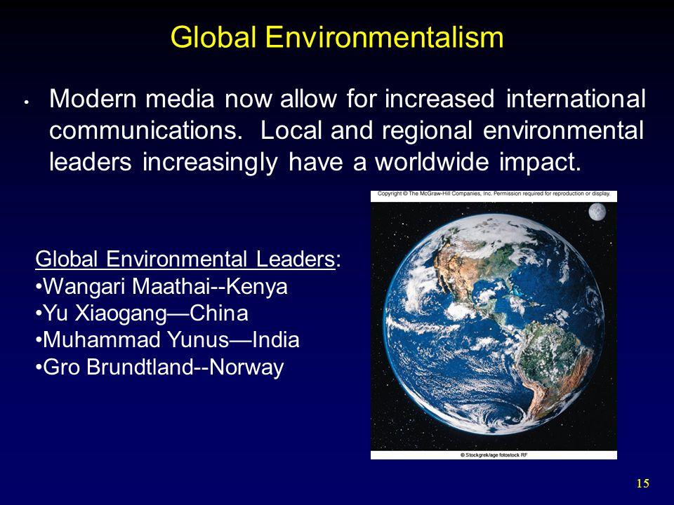 Global Environmentalism