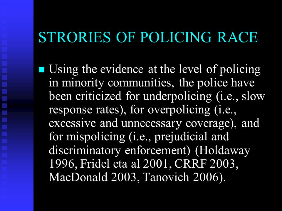 STRORIES OF POLICING RACE