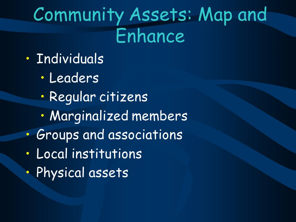 Community Assets: Map and Enhance