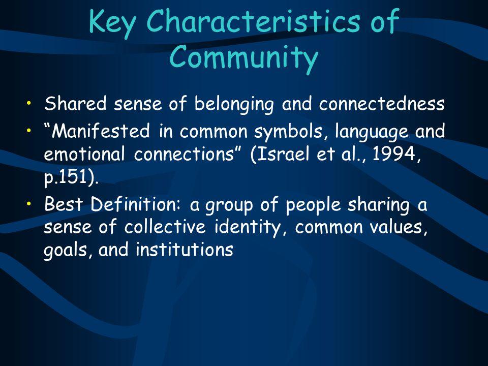 Key Characteristics of Community