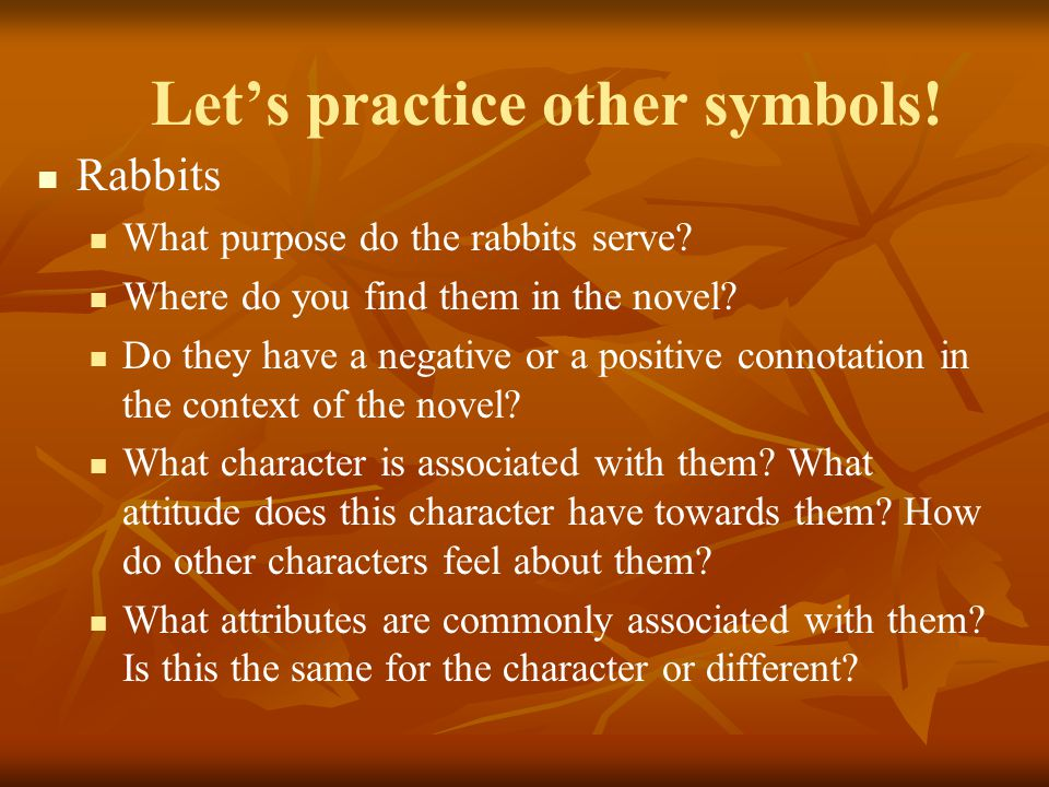 Let's practice other symbols!