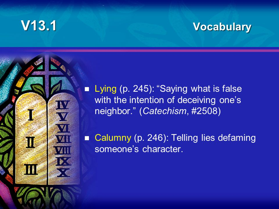 V13.1 Vocabulary