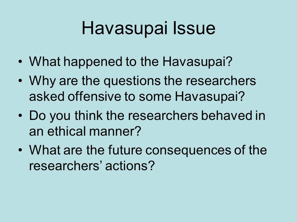 Havasupai Issue What happened to the Havasupai